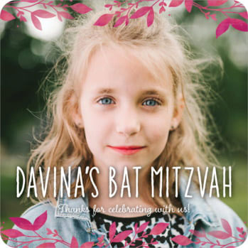 Willow Bat Mitzvah Coaster
