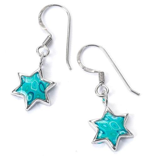 Adina Plastelina Small Silver Star Of David Earrings