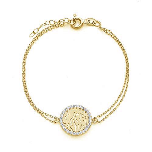Gold Shema Israel Bracelet For Bat Mitzvah
