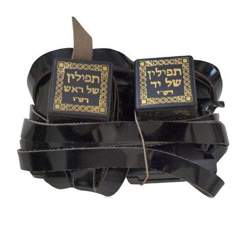 Pair Of Tefillin Dakkot Peshutim Mehudarim Sefardi Version