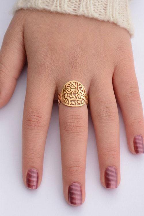 Shema Yisrael Gold Ring