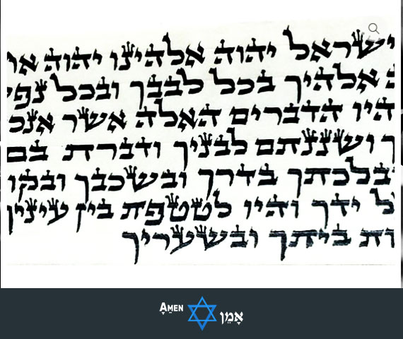 Tefillin Scroll Nusach