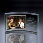 Engagement Curved Glass Horizontal 5x7 Photo Frame