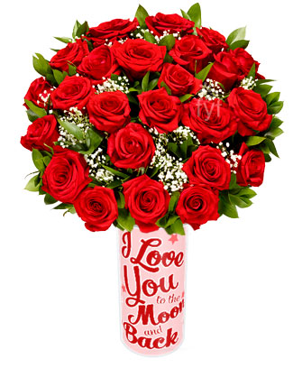 Long Stemmed Red Roses