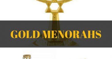 Gold & Brass Menorahs