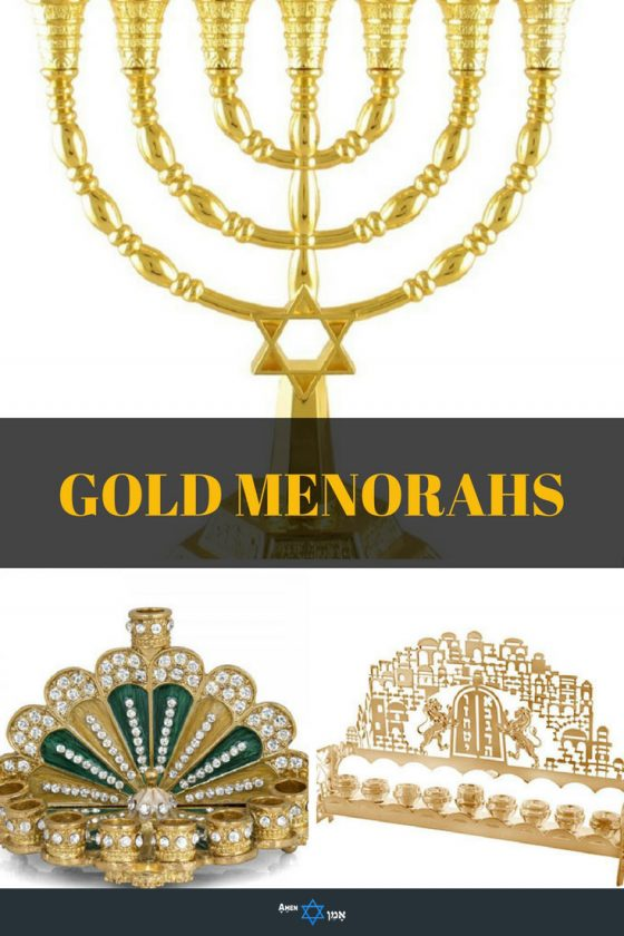 Gold & Brass Menorahs