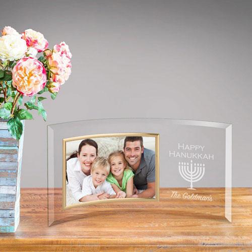 Personalized Happy Hanukkah Glass Frame