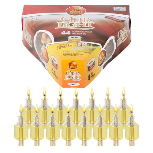Pre Filled Menorah Oil Cup Candles Hanukkah Ohr Lights