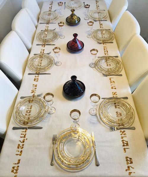 Berachot Shabbat Tablecloth
