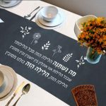Passover Seder Meal Table Runner - Ma Nishtana