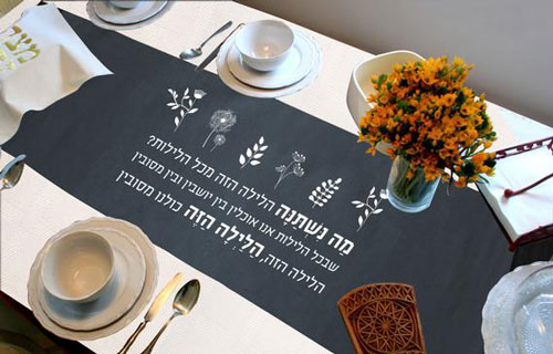 Passover Seder Meal Table Runner