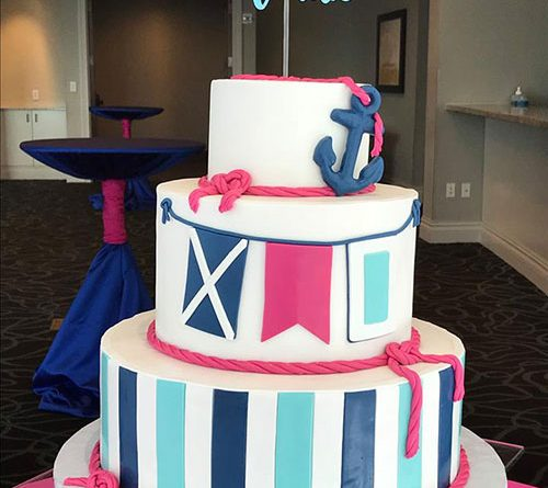 Bat Mitzvah Nautical Theme Cake