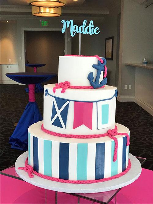 Bat Mitzvah Nautical Theme Cake