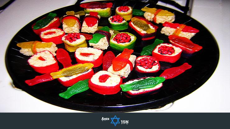 Kiddush Luncheon Candy Sushi