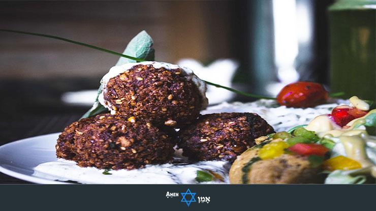 Kiddush Luncheon Falafel