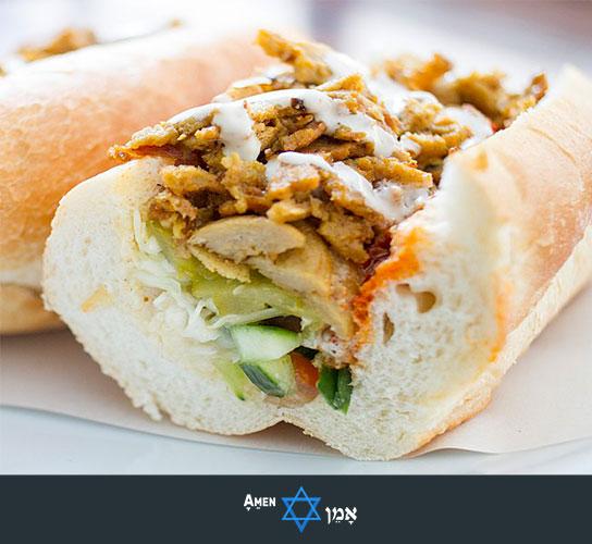 Kiddush Luncheon Shawarma