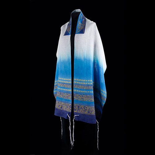 Lightweight Hand Painted Linen Tallit