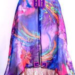 Multi Color Silk Tallit By Reeva