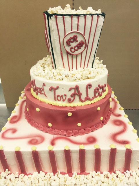 Popcorn Bar Mitzvah Cake