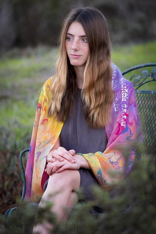 Rainbow Silk Tallit For Bat Mitzvah