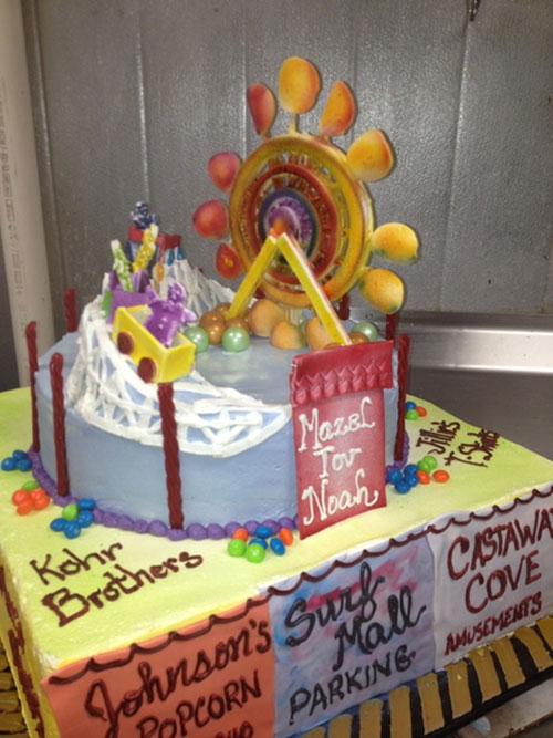 Shore Theme Bar Mitzvah Cake