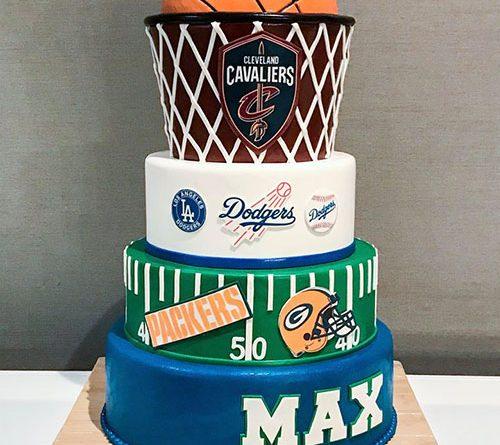 Sports Themed Bar Mitzvah Cake