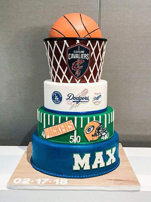 Sports Themed Bar Mitzvah Cake