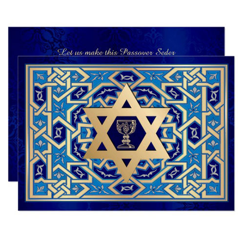 Custom Passover Seder Invitations