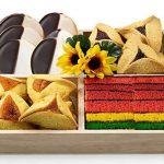 Gift Tray With Kosher Hamentaschen & Rainbow Cookies