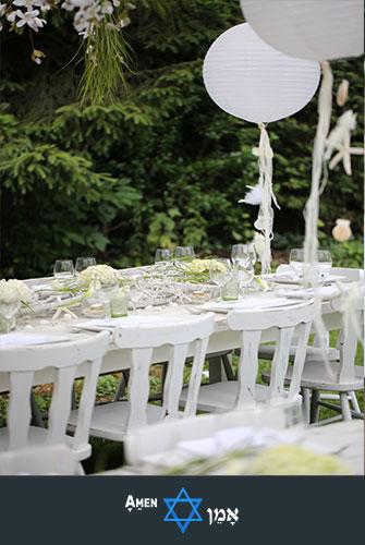 Outdoor Seder Table