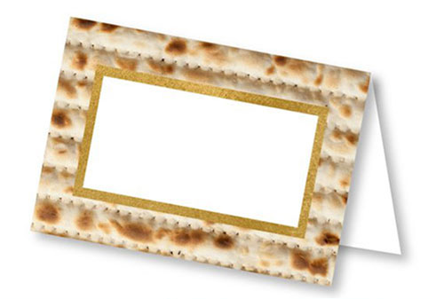 Printable Passover Matzo Place Cards