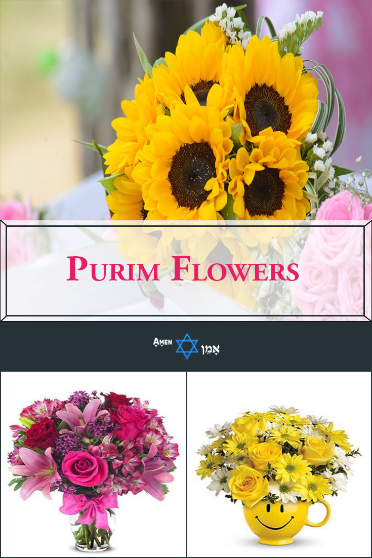 Purim Flowers Large