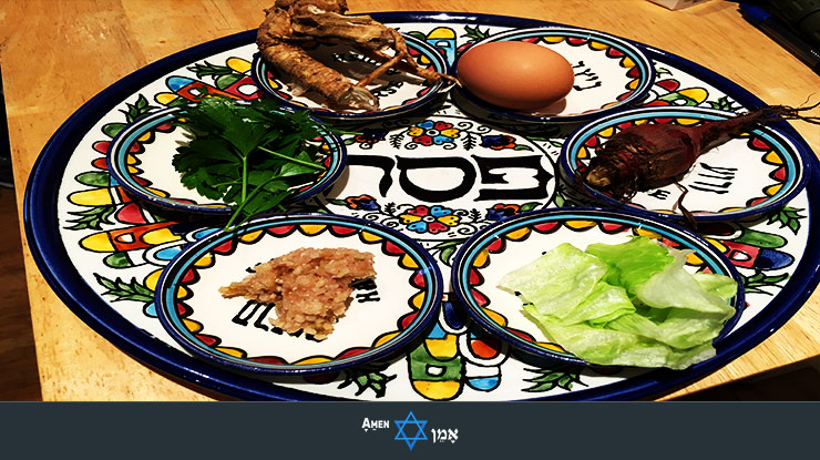 Seder Plate With Items