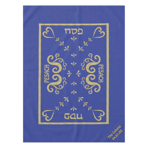 Elegant Passover Gold Tablecloth