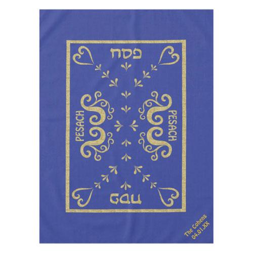 Elegant Passover Gold Tablecloth