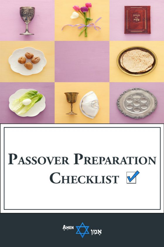 Passover Preparation Checklist