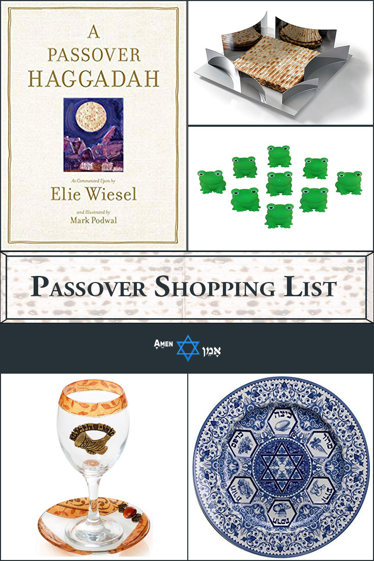 Passover Shopping List Large