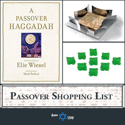 Passover Shopping List