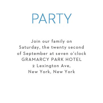 Colorful Names Bar Mitzvah Party Invitation