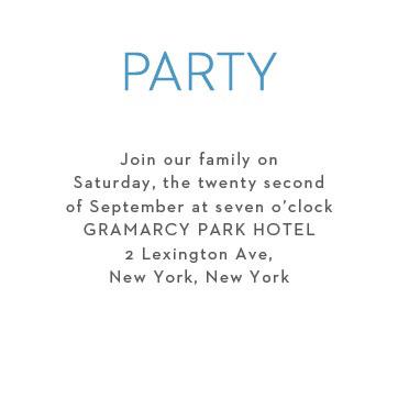Colorful Names Bar Mitzvah Party Invitation