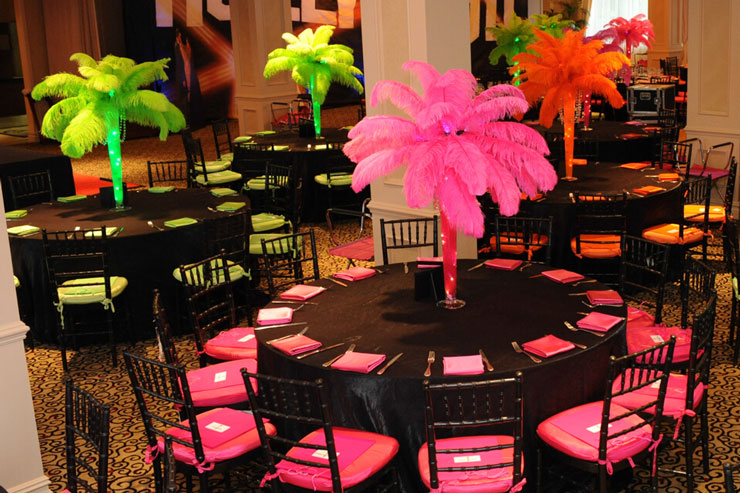 Tropical Trees Themed Bat Mitzvah