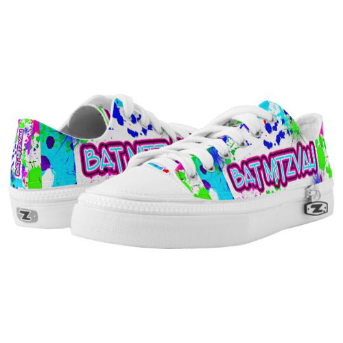 Fun Neon Bat Mitzvah Dancing Sneakers
