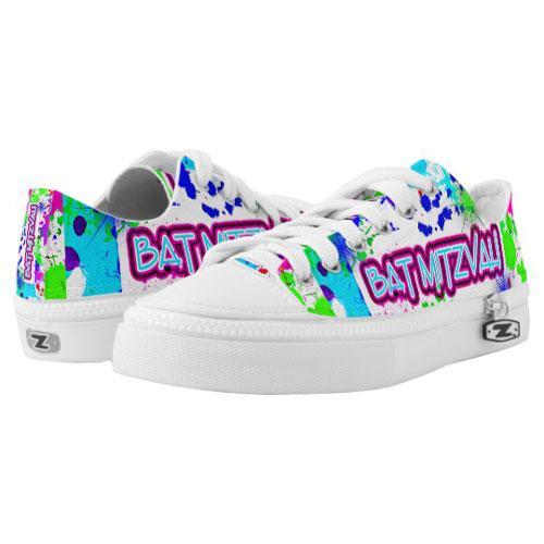 Fun Neon Bat Mitzvah Dancing Sneakers