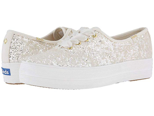 Keds X Kate Spade New York Bridal Triple Glitter