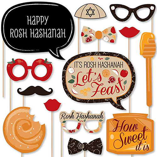 Rosh Hashanah Photo Booth Props