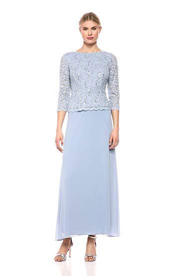 Alex Evenings Women's Long Mock Dress