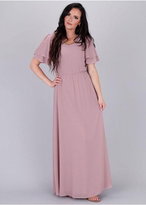 Chloe Chiffon Maxi Dress