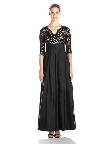 Eliza J Women's Lace Surplice Gown