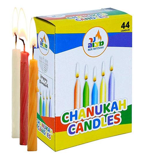 Colorful Hanukkah Candles