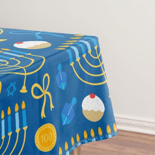 Festive Hanukkah Tablecloth